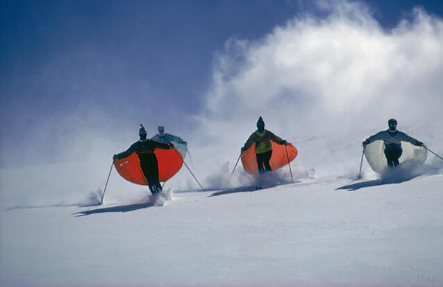 Slim Aarons | Caped Skiers (Aarons Estate Edition) (1967) | Available for Sale | Artsy
