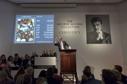 George Michael's art collection raised $12.3 million at Christie's.