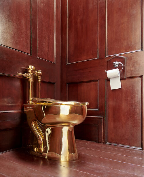 Three more suspects have been arrested over the theft of Maurizio Cattelan's gold toilet.