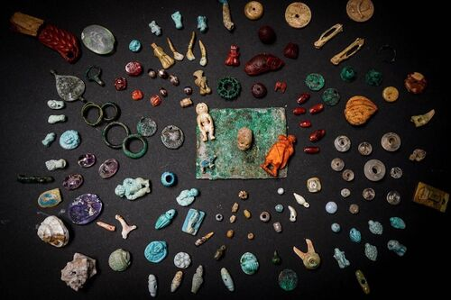 """Archaeologists at Pompeii discovered a """"sorcerer's treasure trove"""" of artifacts."""