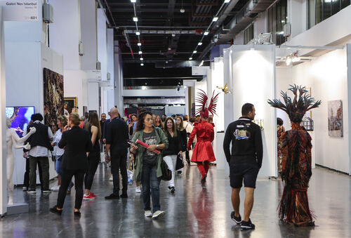 The chairman of Istanbul's leading art fair disparaged international coverage of Turkish military activity in Syria.