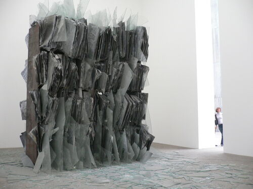 Burglars in search of scrap metal damaged a massive Anselm Kiefer sculpture.