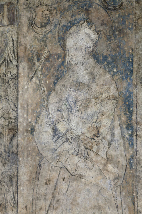 An Albrecht Dürer wall painting may have been discovered in a Vienna cathedral's gift shop.