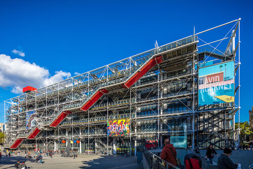 A painting at the Centre Pompidou was stabbed by a knife-wielding museumgoer.