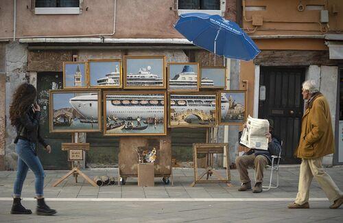 Banksy tried to crash the Venice Biennale.