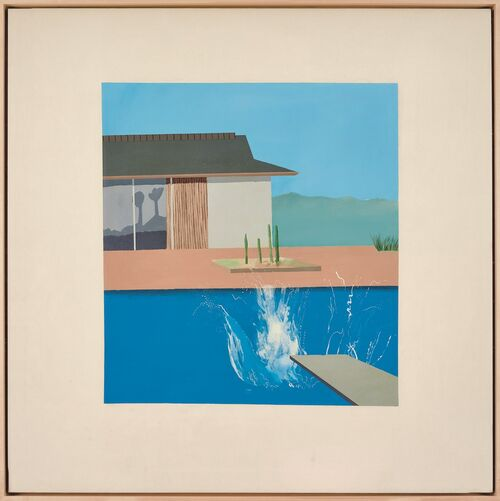 "One of David Hockney's iconic ""Splash"" paintings will go up for auction at Sotheby's in London next month."