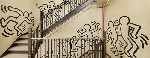 A rarely seen Keith Haring mural has been cut from the wall to be sold at auction.