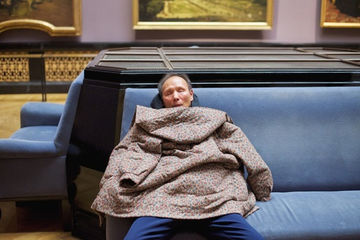 These Photos Capture Museumgoers Who've Fallen Asleep