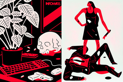 Cleon Peterson's Violent Paintings Strike at the Heart of a Divided America