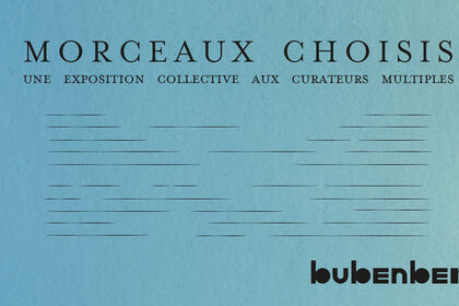 Morceaux Choisis 2 - a multi-curated group show