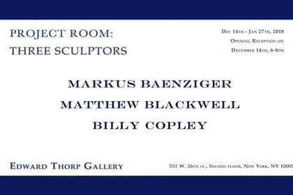 Project Room: Three Sculptors