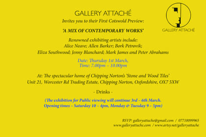 'A MIX OF CONTEMPORARY WORKS'