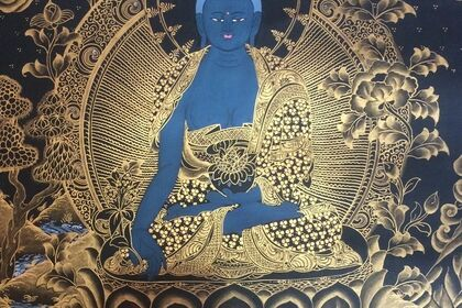 Buddhist Thangka Paintings and paperworks from Nepal