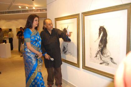 Restless Creativity - The Art of the legendary 'Sunil Das' (1939-2015) - The Padmashree & The Taj Shiromani Puraskar Awardee