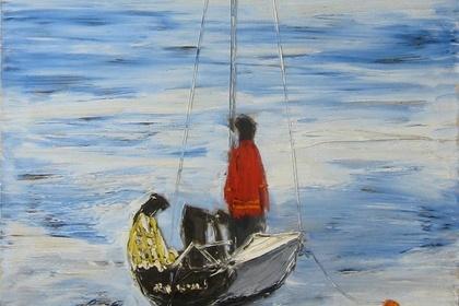 Pat de Groot - Nanno de Groot : Sea and Sky - Painting in Provincetown