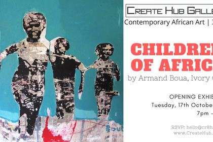 Children of Africa by Armand Boua @ Create Hub Gallery
