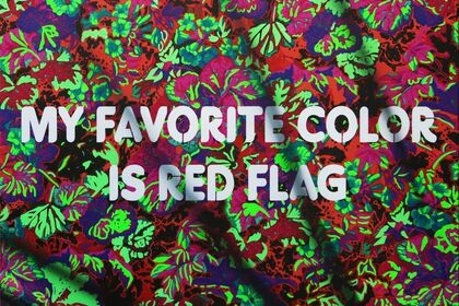 My Favorite Color Is Red Flag
