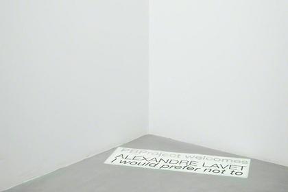 Alexandre Lavet - I Would Prefer Not To