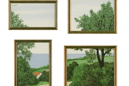 René MAGRITTE -  Lithographs objects and cut-up paintings