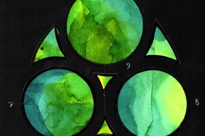 The shapes of Light. Watercolors for the Stained Glass of the Sagrada Família. Joan Vila Grau