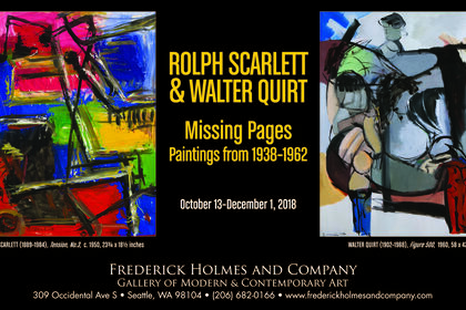 ROLPH SCARLETT & WALTER QUIRT: MISSING PAGES, Paintings From 1938-1962
