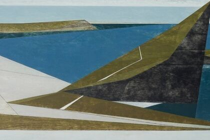 SEA CLIFFS  recent paintings by Vanessa Gardiner with furniture by Petter Southall