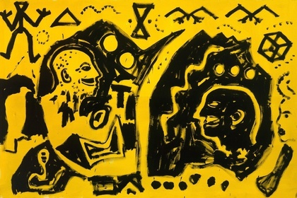 """""""A.R. Penck: Paintings from the 1980s and Memorial to an Unknown East German Soldier"""""""