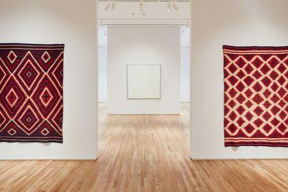 Agnes Martin / Navajo Blankets