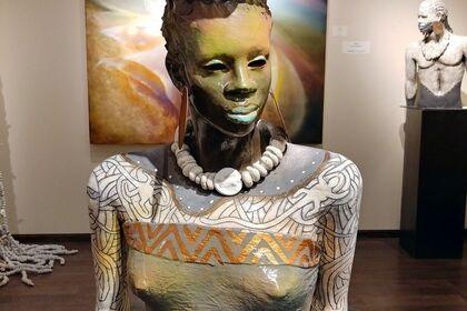 African Nouveau Sculpture by Woodrow Nash