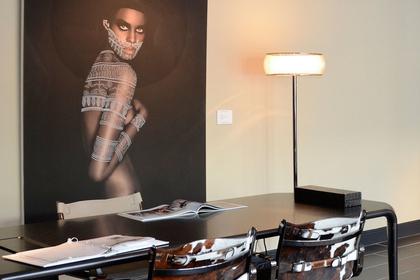 Isaza; Photographs at the Luxury Living  Flagship showroom.