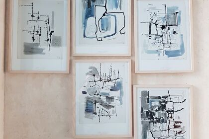 DESSINS  ABSTRACTIONS de  1950 d'Esther HESS