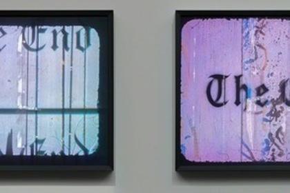 Ed Ruscha / Jonas Wood: Notepads, Holograms and Books