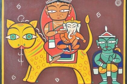 JAMINI ROY – A collection of works from Swaraj Art Archive