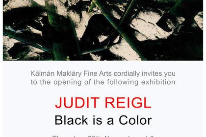 JUDIT REIGL - BLACK IS A COLOR