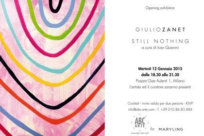 Giulio ZANET | STILL NOTHING