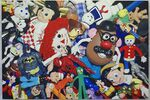 Peter & Madeline Powell's Photorealistic Paintings Sift through Piles and Piles of Toys and Candy