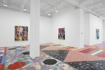 Floored: Step Into and Onto Sarah Cain's Latest Paintings at Galerie Lelong