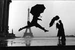 "Elliott Erwitt's ""Umbrella Jump"" at Holden Luntz Gallery"