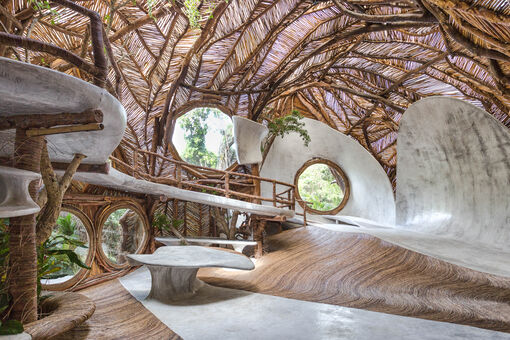 Peggy Guggenheim's Great-Grandson Created an Otherworldly Gallery in Tulum