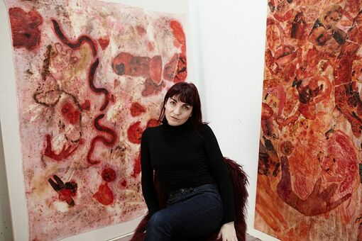 Up and Coming: Athena Papadopoulos Paints Her Father's Sexual Exploits in Pepto Pink