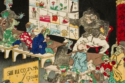 "The Japanese ""Demon of Painting"" Who Invented Manga in 1874"