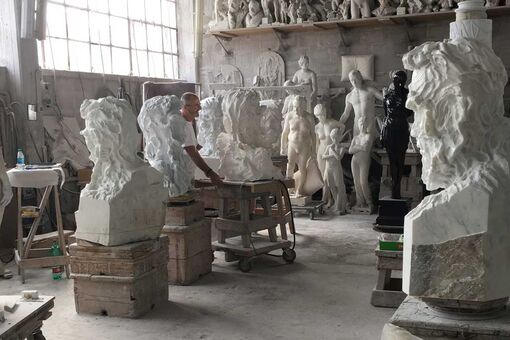 What It's Like to Sculpt from the Same Marble as Michelangelo