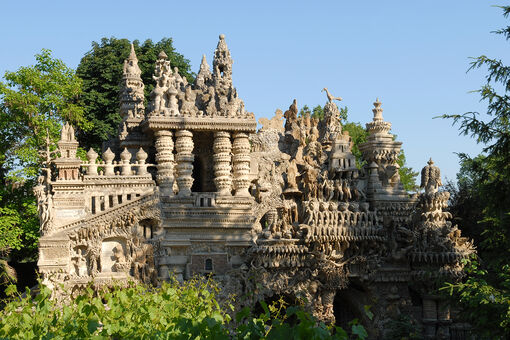 In a Sleepy French Town, a Postman Built a Surrealist Palace out of Pebbles