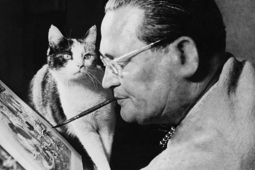 These Smithsonian Archival Photos Show Famous Artists with Their Cats