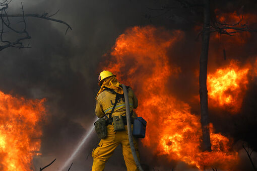 """Wildfire Rages Near the Getty, but Museum Says """"Safest Place"""" for Art Is Inside"""
