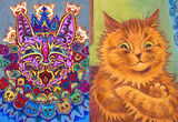 The Colorful, Dancing, Psychedelic Cats of Louis Wain