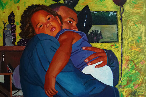 Raelis Vasquez Translates His Family's Emigration Story into Tender Paintings