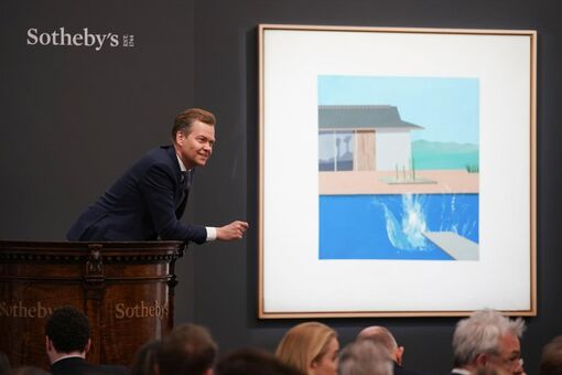 $29.8-Million Hockney Can't Escape Brexit's Shadow at Sotheby's in London