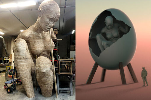 See How a Massive Burning Man Sculpture Comes to Life