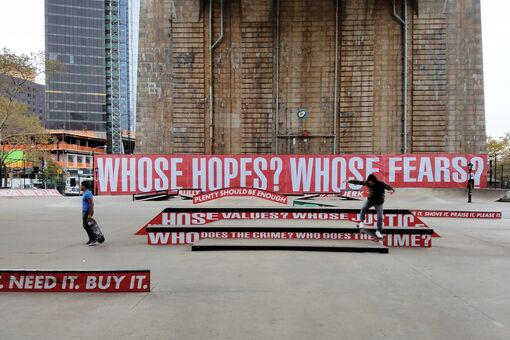 I Went to Barbara Kruger's First-Ever Performance—and Left with a Skateboard